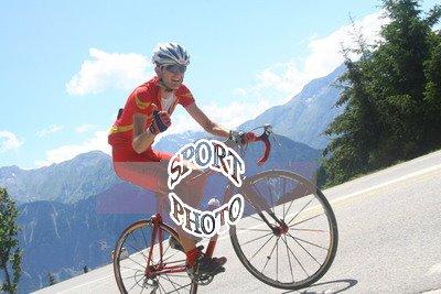 Dans la montée de l'Alpe d'Huez